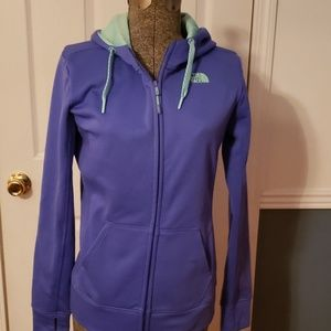 North face zip up hooded jacket